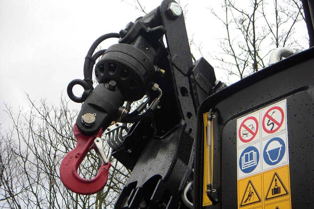 Rotor de bras grue de camion - livraison en zone urbaine