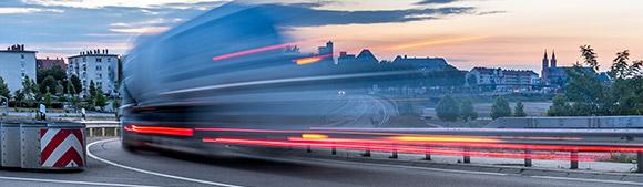 Camion adapté aux transports en milieu urbain